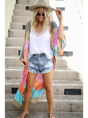 Supply Color Me Pretty Tie-dye Kimono