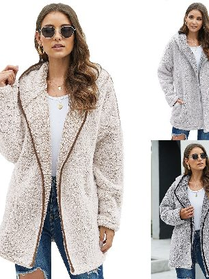 Supply Mid-length Thick Winter Wubby Casual Women Coat