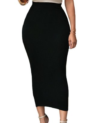 Supply Chic High-waisted Bodycon Maxi Skirt