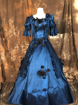 Picture color court Trumpet Sleeves Bowknot flowers palace Prom Dress