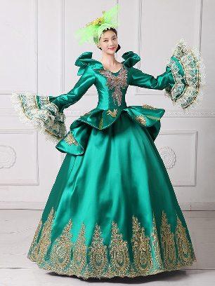 Palace dress stage dance costume dinner party princess dress