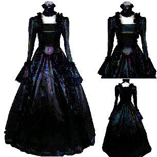 lolita Victoria Gothic Full Dark Pattern Lolita Prom Dress