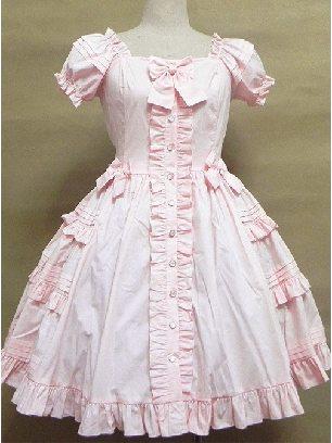 Lolita Victoria Puff Sleeve Ruffles Sweet Lolita Dress