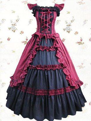 Mei Hong LOLITA long dress evening dress cotton Sweet Lolita Dresses