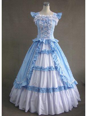 Sky Blue LOLITA long dress evening dress cotton Sweet Lolita Dresses