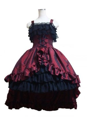 palace dress evening dress ball lace tuxedo Gothic Lolita Sling Dress