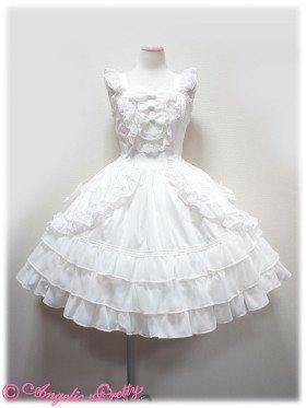white retro flying sleeves bowknot lotus leaf cake dress Sweet Lolita Dress