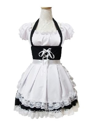 Cosplay sweet pretty maid Costume Lace Lolita Dress