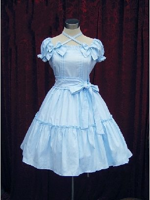 Lolita string leaf Short Sleeves Bowknot Sweet Lolita Dress