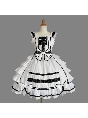Gothic retro sling multi-layer ruffled one-piece Sweet Lolita Dresses