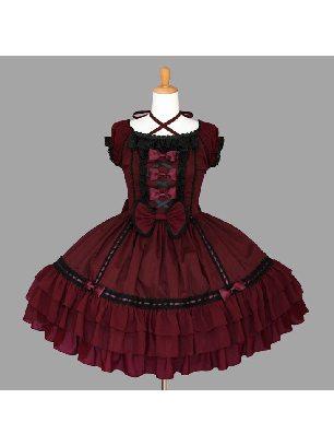 Puff Sleeve Lace Ruffled Pompon Sweet Lolita Dress