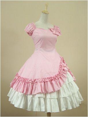Gothic one-piece two-piece cotton Classic Lolita Dresses