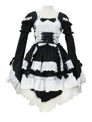 Angel Love Princess Dress Black White Cosplay Maid Costume