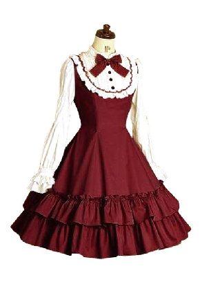 Doll Collar Bow Ruffles Classic Lolita Long Sleeves Dress