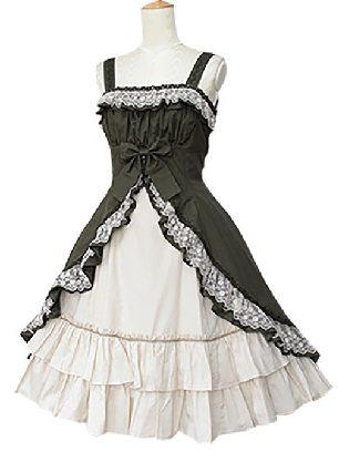 sling waist lace princess dress cotton Classic Lolita dress