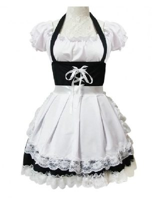 Lace Sweet Maid Costume Short Sleeves Sweet Lolita Dress