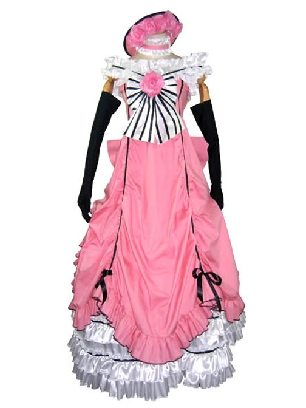 Black Butler Shire Cosplay Costume Pink Lolita Prom Dress