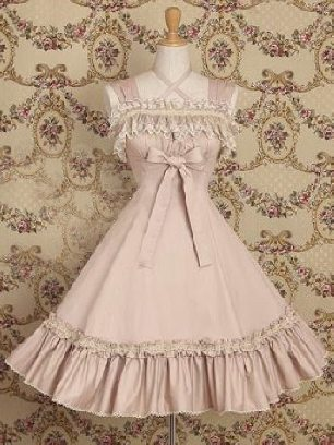 Gothic court suspenders one-piece princess Classic Lolita Dresses
