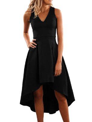 Supply High Waist Irregular Skirt Sleeveless Midi Dress