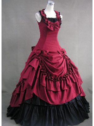 lolita Gothic Victoria halting neck pleated palace evening dress