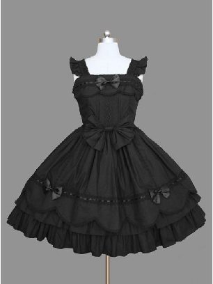 Lolita gothic waist suspender one-piece skirt Sleeveless palace Dress