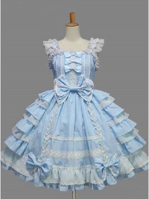 Palace Style Chiffon White lace Dress Bowknot Sweet Lolita Sling Dress