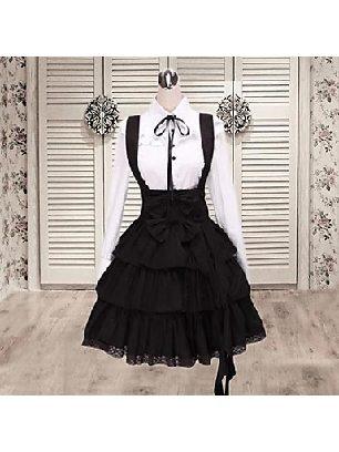 Supply Lolita college bow fake two-piece long sleeves School Lolita Dress