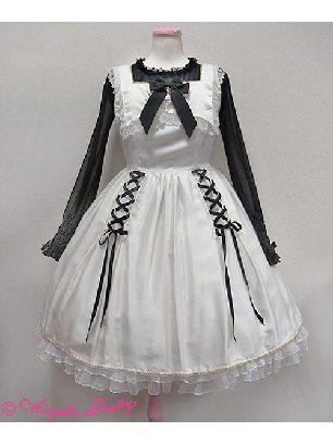 Lace Bowknot lace-up vest Lolita Dress
