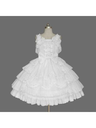 Gothic Snow White suspender palace one-piece cotton Lolita Dress with panties