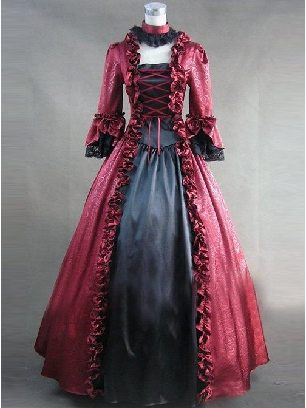 Halloween witch Gothic lRetro lolita dress Prom Long Sleeve Long Dress