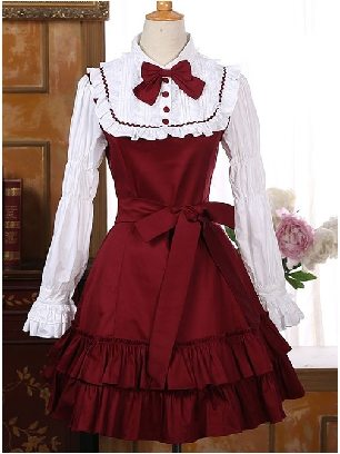 Palace lolita princess dress retro lace Sweet Lolita Long Sleeve Dress