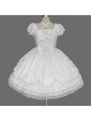 white cotton Gothic Cute lace Sweet Lolita Dresses