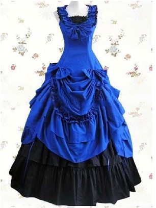 Palace vintage dress Ruffled Bowknot Prom Sleeveless Lolita Dress
