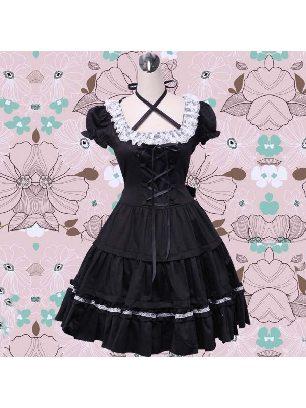 Gothic tie waist one-piece palace Sweet Lolita Dresses