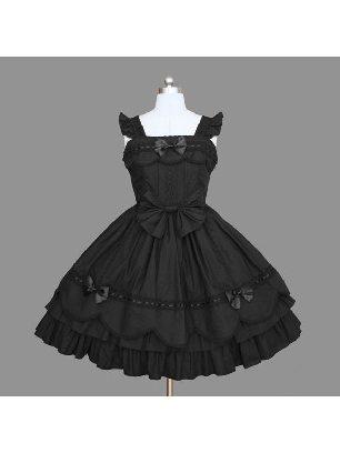 Lolita Gothic waist one-piece suspender Classic Lolita Dress with panties