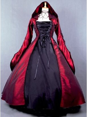 Victoria Palace Style Retro Gothic Lolita Prom Hooded Long Dress