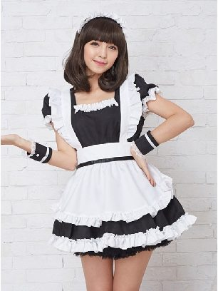 Coffee House Maid restaurant uniform cosplay princess dress maid costume