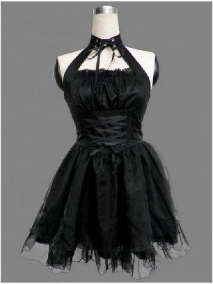 Cute Black Gothic Lolita dress sleeveless Lolita princess dress