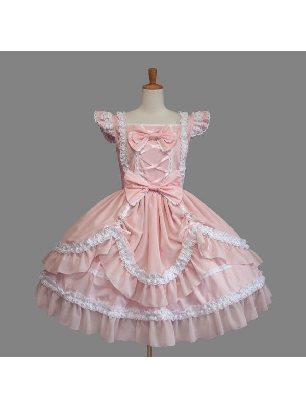 Gothic Style lace puff Sweet Lolita Dress with panties