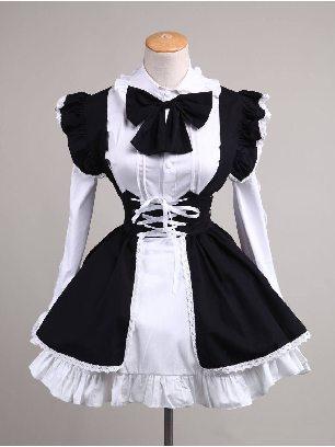 Maid costume cute anime maid costume Sweet Lolita Dresses