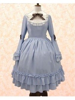 Peter Pan collar lace concubine sleeves trumpet sleeve Sweet Lolita Dress