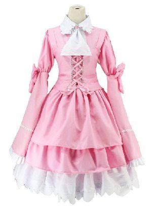 Alice and Zangliu pink men dressed as women Long Sleeves Bowknot Sweet Lolita Dress
