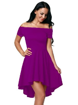 Rose red Sexy Evening Dress Blue All The Rage Skater
