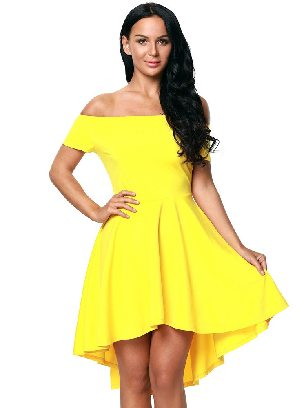 Yellow Sexy Evening Dress Blue All The Rage Skater