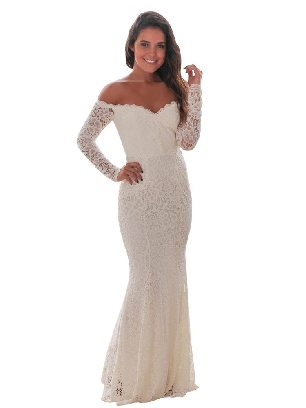Supply Crochet Off Shoulder Prom Mermaid Slim Fit Maxi Dress