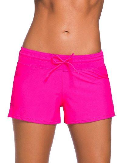 Rose red Women Summer Flat-angle Shorts Swim Boardshort