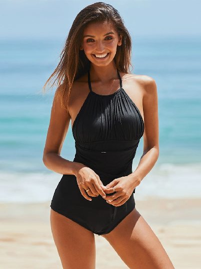 Sexy Beach Ruched Monokini One-piece Swimwear