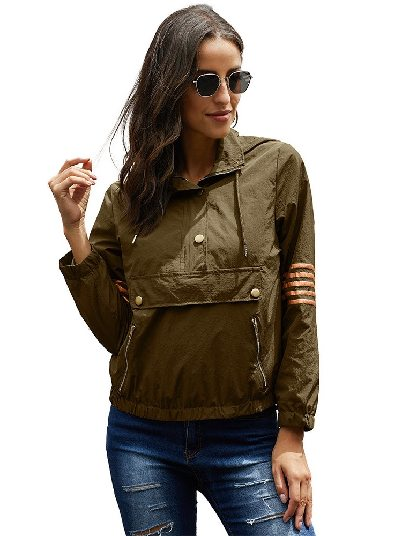 Green Hooded Pullover Outdoor Morris Hooded Jacket