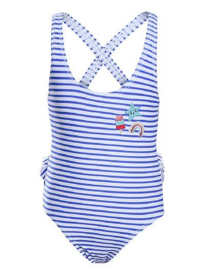 Children Swimsuit Nautical Stripes Toddler Girls One-piece Maillot Swimwear