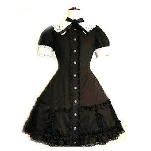 Black Lace Corset Dress Lolita Cosplay Costume